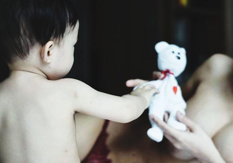 Childhood Shirtless Baby Close-up