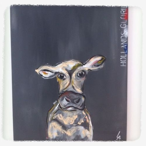 Hollands glorie artgallery lil cow Cows Art Check This Out