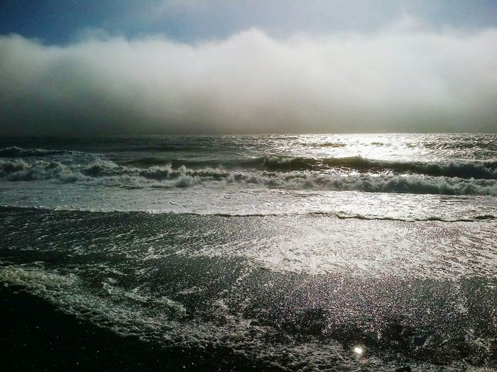 Rialtobeach Waves In The Sky Clouds Peace Sunshine Nature Beautiful Summertime
