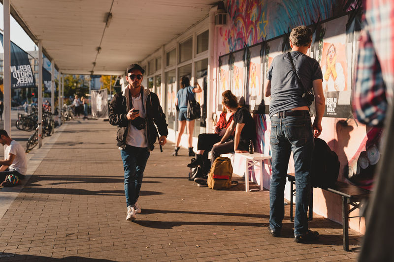 Berlin Photo Week 2018 Berlin Photo Week BPW18 EyeEem Group Of People Casual Clothing Lifestyles Walking Real People Full Length People Architecture Women Young Adult Leisure Activity Incidental People Adult Day Footpath Built Structure Sunlight City Men Young Women Outdoors Beautiful Woman