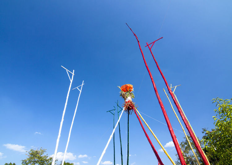 Faith, Rite and Pray Belief Clear Sky Day Faith Low Angle View Religious  Rite Shore Sky Traditional Wood Pole