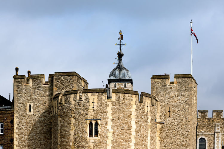 Tower of london against cloudy sky
