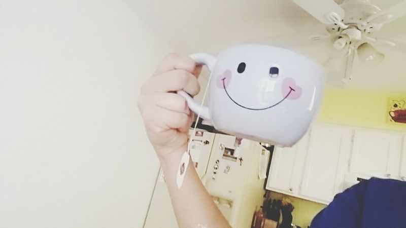 Tea helps me. A little. Happy Face Cups Embers Cups Hanging Out Taking Photos That's Me Check This Out Hello World Cheese! Tea Time