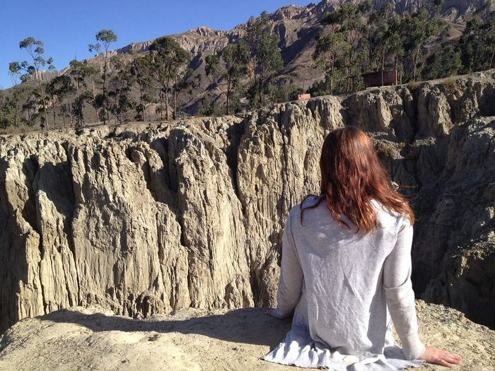 Thinking Summer Sunny Gapyear Brunette Solotraveler Girl South America Peru Canyon Travel Photography Traveling Sunlight Lifestyles One Person Tree Real People Sitting Nature Women