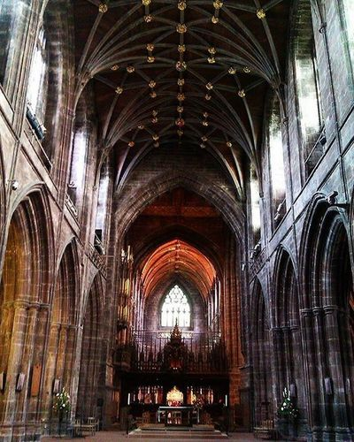 Architecture Cathedral Interiors Roof Textures And Surfaces Arch Arches Architecture Built Structure Cathedral Architecture Chester Chester Cathedral Church Architecture Colours And Tones Day High Ceilings Indoors  No People Ornate Ceiling Pew Place Of Worship Religion Window