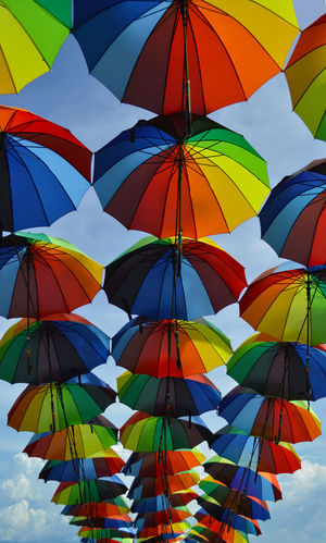 Been There. Colors Vacations Close-up Colorful Colorful Umbrellas Colour Of Life Day Low Angle View Multi Colored No People Outdoor Photography Outdoors Sky Sunny Day Umbrellas