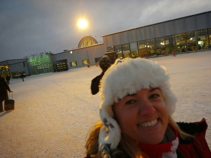 Self Portrait Around The World Just landed in Ivalo Finland. Ivalo Finland Airport