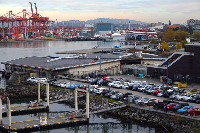 Port of Vancouver docks. Vancouver B.C. Canada. Business Finance And Industry Outdoors No People Water Vancouver Canada B.C Harbor Commercial Dock Freight Transportation