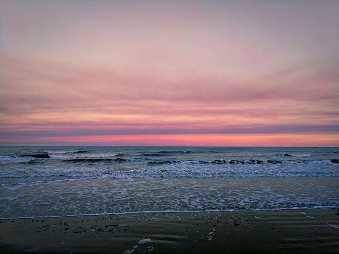 Beach Water Sunset Horizon Over Water Tranquil Scene Nature Outdoors Beauty In Nature GalvestonTexas