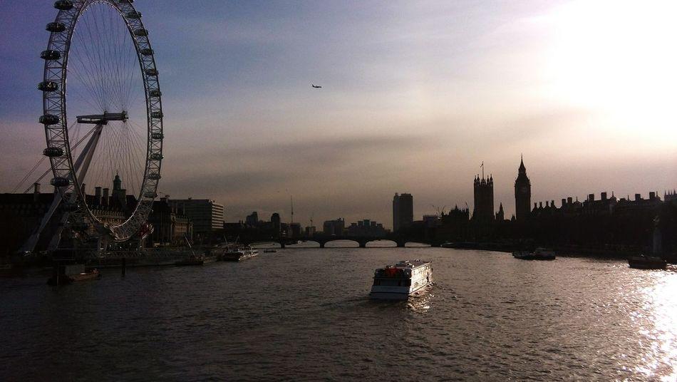 London Enjoying Life River Thames Boat LondonEye Skyline Cityscape Sunshine ☀