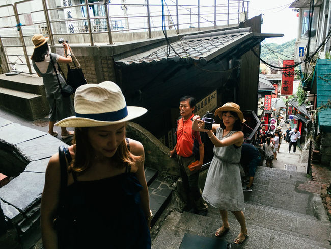 Keelung, Taiwan, 2016 Architecture Day Light And Shadow Mobilephotography Outdoors Real People Selfies Streetphotography The Street Photographer - 2017 EyeEm Awards Young Women
