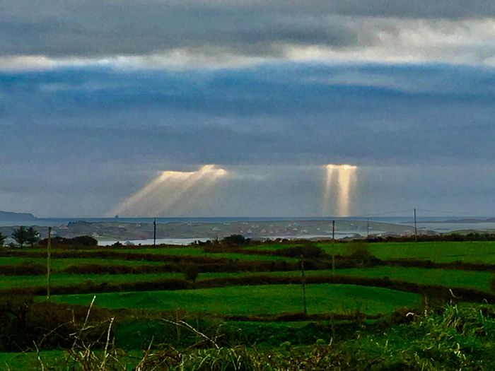 Sunshine throughout the clouds Beauty In Nature Irish Landscape Sunlight Nature On Your Doorstep West Cork Sunlight ☀ Sunlight Through Clouds