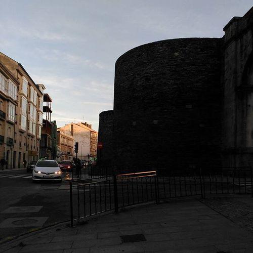 The orange makeup of the day's start and end España Lugo Galicia
