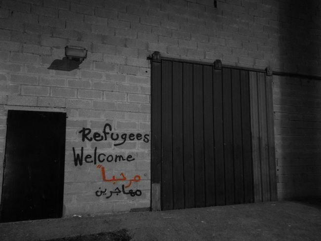 Text Communication No People Close-up Refugees Refugeeswelcome Refugees Crisis Refugeecamp Refugee Crisis Refugies Migrants Crisis Migrant Crisis Wall Painting/grafitti MUR B&W Murs Mural Art