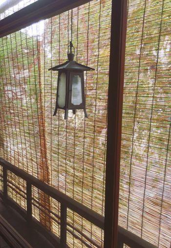 簾 灯り Window Low Angle View A Traditional Style Kyoto, Japan Gion Japanese Culture Light