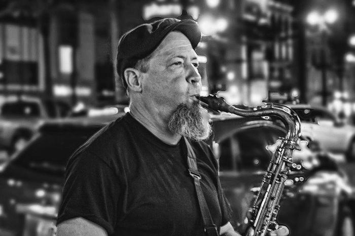 Untold Stories EyeEmbestshots Sitram Photo's Streetphotography Taking Photos Saxophone Blackandwhite New Orleans Talented Man