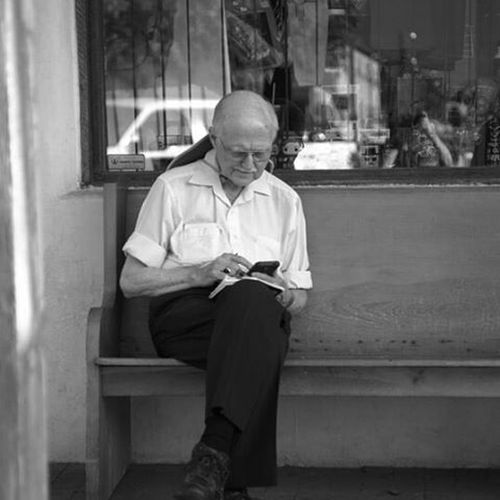 A Man pauses