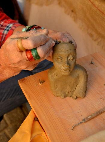 Pottery Art And Craft Artist Artist Hand Arts And Crafts Fair ArtWork Clay Clay Sculpture Clay Work Handmade Original Art Sculpture Working Hands