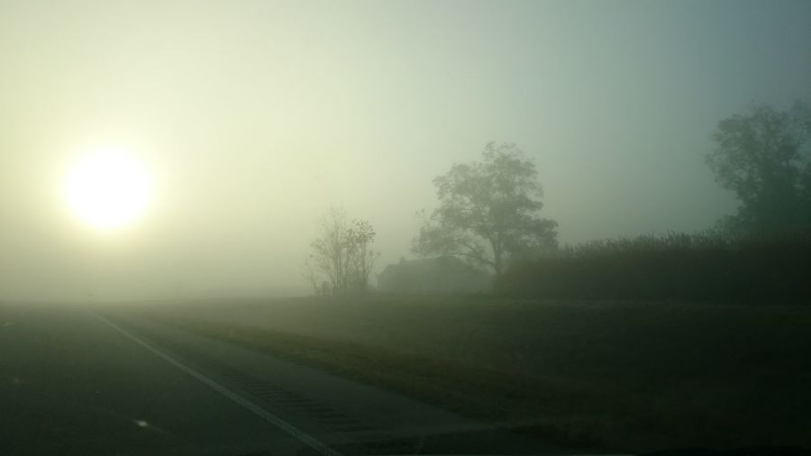 Multiple Layers Foggy Morning Beautiful Surroundings Surreal