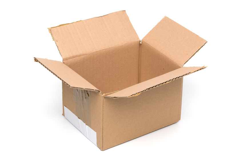 Paper carton transport box empty and open Transportation Box - Container Brown Cardboard Cardboard Box Close-up Container Empty Freight Transportation Moving House Moving Office No People Open Packing White Background