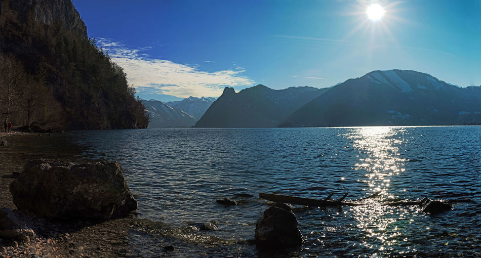 Abendstimmung Salzkammergut, Austria Berge Österreichs Berge Traunsee Traunsee Lake Traunseeufer Wasser