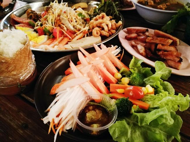 Freshness Food Food And Drink Ready-to-eat Serving Size Variation Indoors  No People Healthy Eating Bowl Seafood Plate Close-up Day ตำถาด ตำถาดกุ้งสด