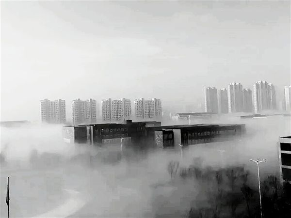 Googmorning Not Beautiful My Campus Fog City Rizhao Black And White Check This Out