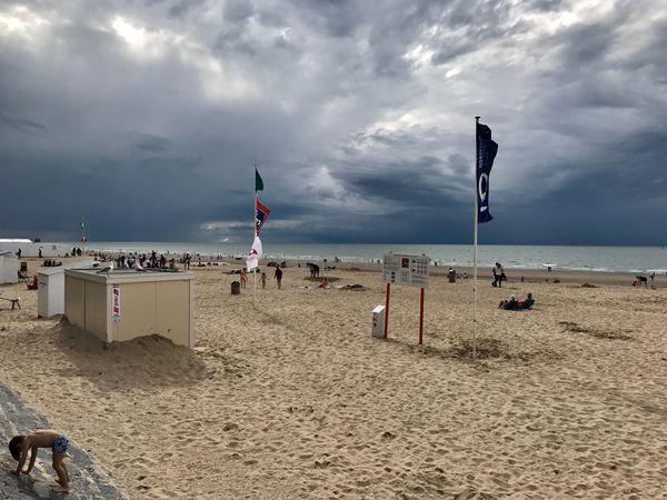 Oostende, Belgium, Beach, Clouds