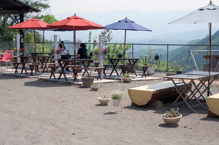 Beauty In Nature Dating Day Lunch Lunchbreak Lunchtime Mountain View Mountains Nature Outdoors Sky Talking View Viewpoint People Restaurant 天空の楽校 Minano 皆野 Saitama Japan