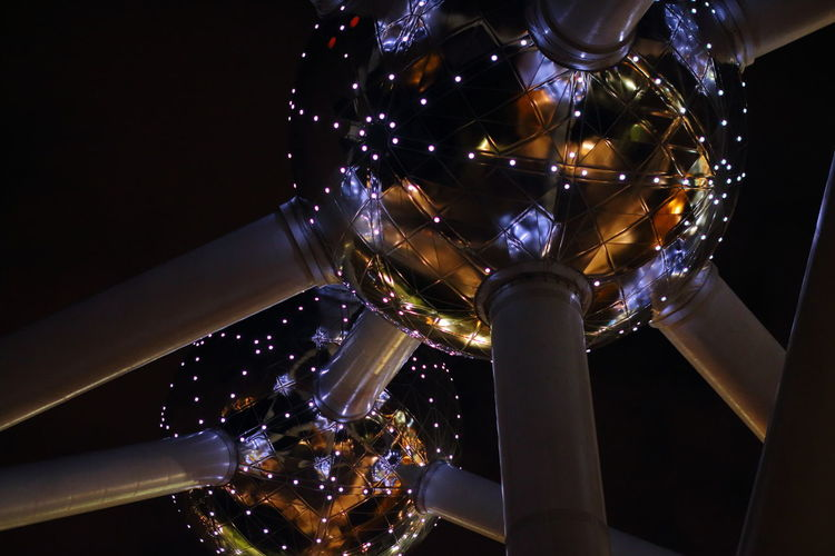 Atomium Brussels Close-up Illuminated Low Angle View Night No People