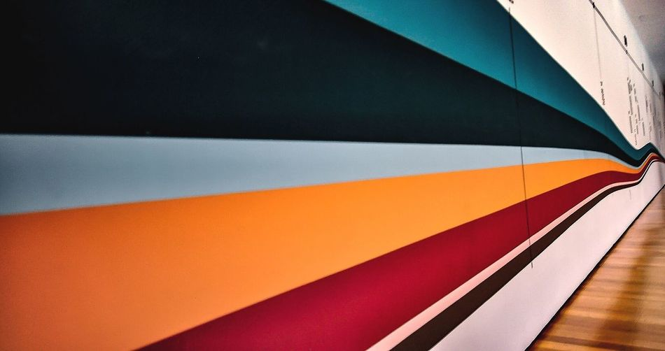 EyeEm Selects Multi Colored Full Frame Pattern No People Close-up Backgrounds Striped Orange Color Shadow Blue Architecture Indoors  High Angle View Wall - Building Feature