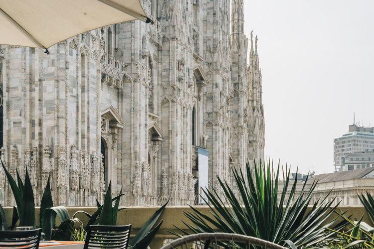 Duomo di milano against clear sky