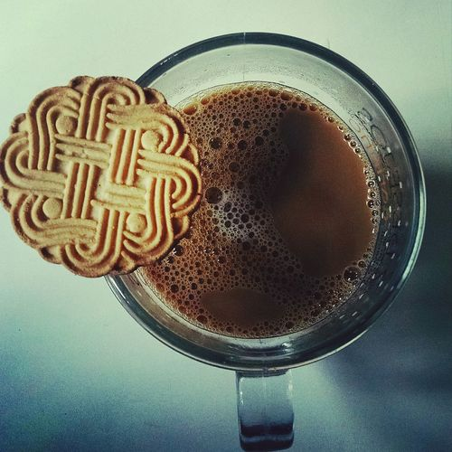 Food And Drink Drink Drinking Glass Sweet Food Close-up Ready-to-eat Directly Above Coffee Cup Coffee Mug Cookies🍪 Indoors  Table Refreshment No People Freshness Indulgence Food Day First Eyeem Photo