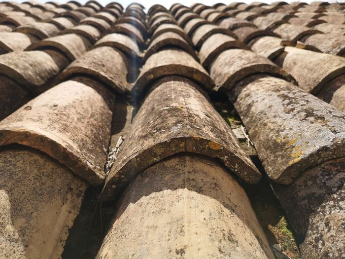 Full frame shot of roof tiles