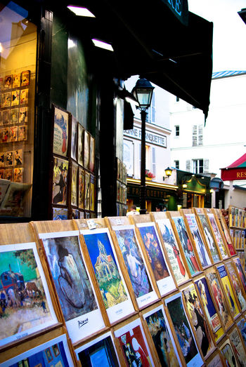 City Life Drawing Market Stall Montmartre Multi Colored No People Painting Paris Place Du Tertre Store