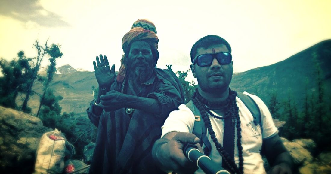 Hello World Taking Photos with Baba in Himalayas Praying Lord Shiva High Attitude  Cold Eye4photography  Nepal