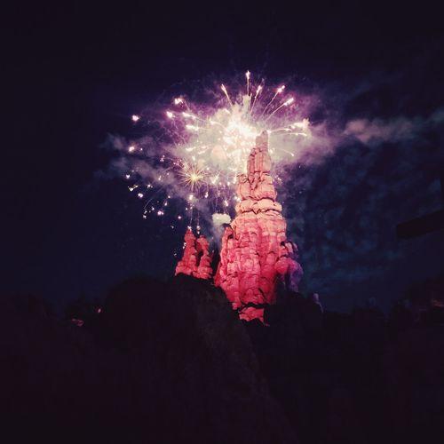 Fireworks Disneyland Sparks Bigthundermountain