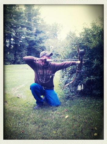 My baby with his recurve