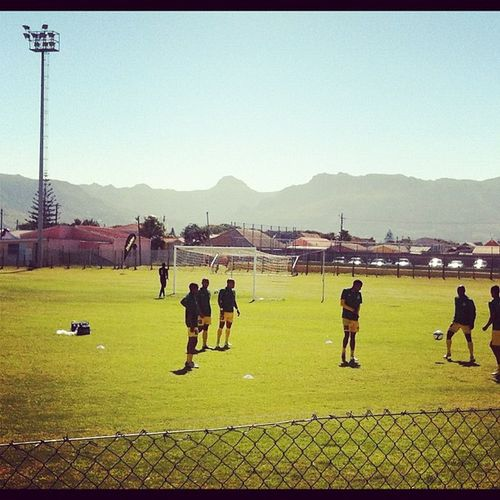 Getting ready for Milano Utd v Jomo Cosmos in a First Division cracker Capetown @psl Soccer