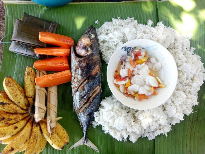 Typical filipino food.