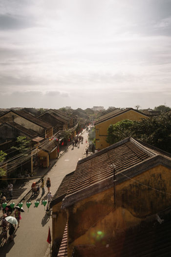 Rooftop sun set Hoi An, Vietnam Architecture ASIA Building Exterior Built Structure City Cloud - Sky Day High Angle View Land Vehicle Large Group Of People Men Nature Outdoors Overhoian People Real People Road Rooftop Sky Street Streetphotography Sun Sunset Transportation Vietnam