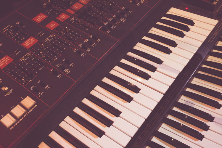 Old synthesizer used to create beautiful music