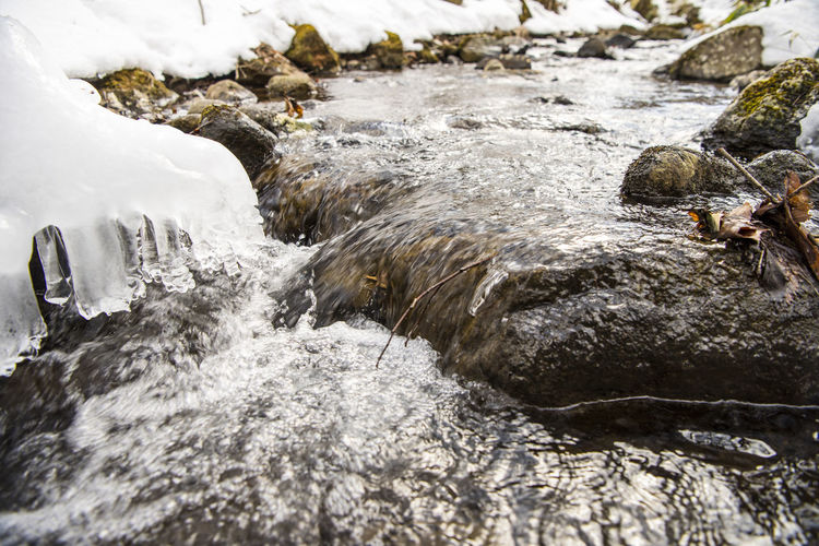 Close-up of water in winter