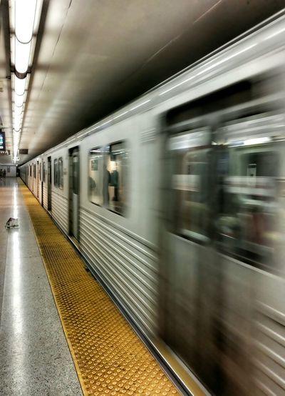 It's moving fast.. Metro Station Metrostation Undergroundphotography Moving Torontoartist Torontophotographer TorontoLife Torontophoto Streetphotography Eyeem2015 EyeEmBestPics EyeEm Best Shots