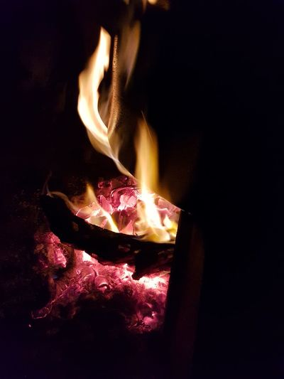 Heat - Temperature Flame Burning Glowing No People Night Motion