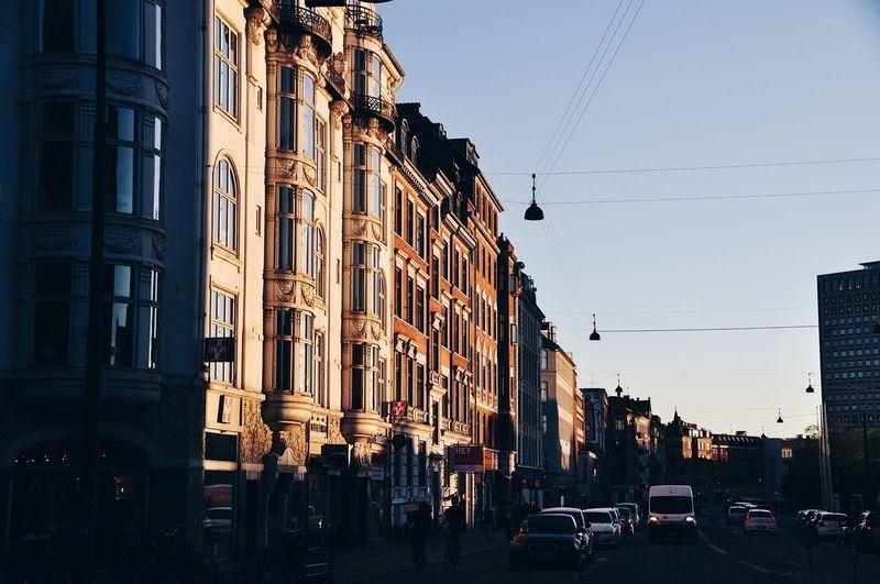 Golden hour in Copenhagen! Architecture City Outdoors Sky Denmark Copenhagen Copenhagen, Denmark Nikon Nikonphotography NikonD5000 VSCO Photography Cityscape Golden Hour Shade First Eyeem Photo