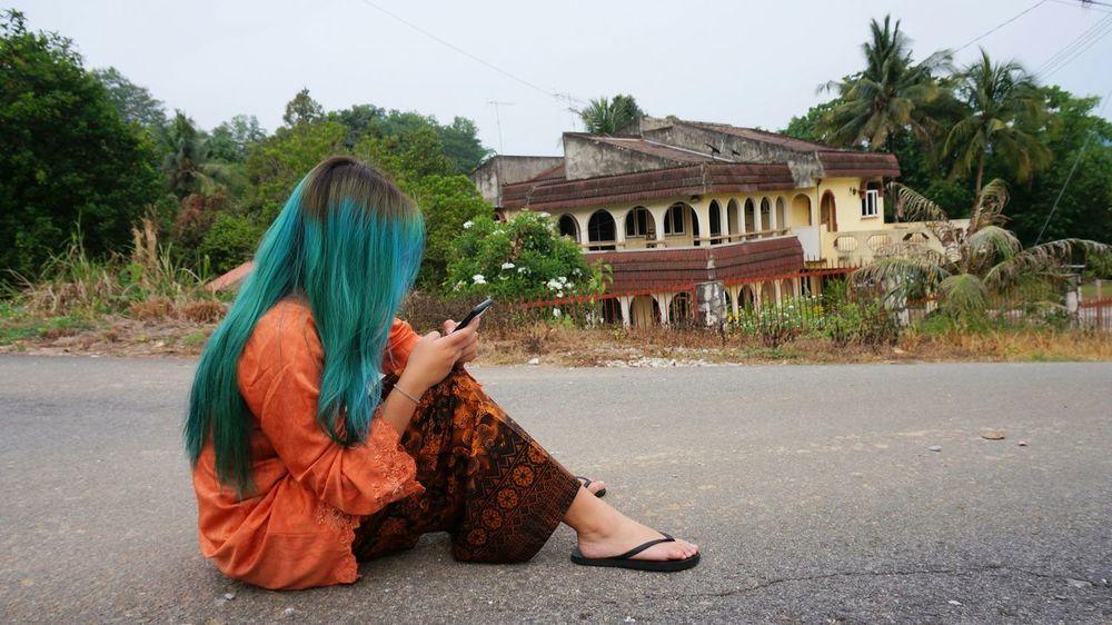 No Filters  Eidmubarak2015 Hari Raya Aidilfitri Malaysia Green Hair