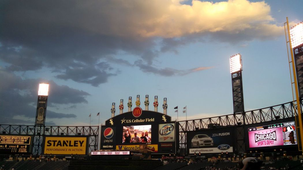 Chicago White Sox Chicago Clouds And Sky Baseball storm