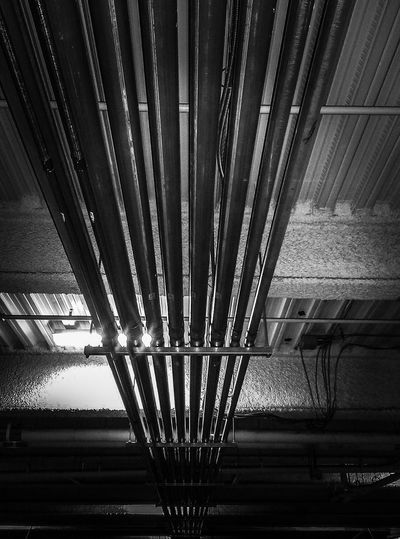 Indoors  No People Close-up Piping Garage Blackandwhite Black And White Collection  Architecture