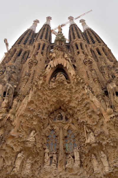 Antoni Gaudí Architecture Barcelona Bas Relief Building Exterior Built Structure Church Clear Sky Crane Day Low Angle View Low Angle View Nikon Nikon D5200 Nikonphotography No People Outdoors Place Of Worship Religion Rose Window Sagrada Familia Sculpture Sky Spirituality Travel Destinations Art Is Everywhere The Architect - 2017 EyeEm Awards